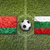 Belarus vs. Bulgaria flags on soccer field stock photo © kb-photodesign