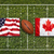 usa vs canada flags on rugby field stock photo © kb-photodesign