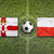 northern ireland vs poland flags on soccer field stock photo © kb-photodesign