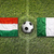 Hungary vs. Italy flags on soccer field stock photo © kb-photodesign