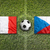 france vs czech republic flags on soccer field stock photo © kb-photodesign