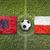 albania vs poland flags on soccer field stock photo © kb-photodesign