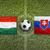 Hungary vs. Slovakia flags on soccer field stock photo © kb-photodesign