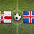 northern ireland vs iceland flags on soccer field stock photo © kb-photodesign