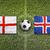 england vs iceland flags on soccer field stock photo © kb-photodesign