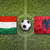 Hungary vs. Albania flags on soccer field stock photo © kb-photodesign