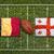 Belgium vs. Georgia flags on rugby field stock photo © kb-photodesign