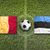 belgium vs estonia flags on soccer field stock photo © kb-photodesign