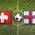 switzerland vs faroe islands flags on soccer field stock photo © kb-photodesign
