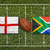 England vs. South Africa flags on rugby field stock photo © kb-photodesign