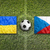 ukraine vs czech republic flags on soccer field stock photo © kb-photodesign