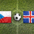 czech republic vs iceland flags on soccer field stock photo © kb-photodesign