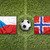 czech republic vs norway flags on soccer field stock photo © kb-photodesign