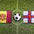 andorra vs faroe islands flags on soccer field stock photo © kb-photodesign