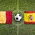 belgium vs spain flags on soccer field stock photo © kb-photodesign