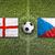england vs czech republic flags on soccer field stock photo © kb-photodesign