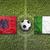 Albania vs. Ireland flags on soccer field stock photo © kb-photodesign