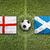 england vs scotland flags on soccer field stock photo © kb-photodesign