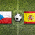czech republic vs spain flags on soccer field stock photo © kb-photodesign