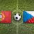 portugal vs czech republic flags on soccer field stock photo © kb-photodesign