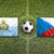 San Marino vs. Czech Republic flags on soccer field stock photo © kb-photodesign