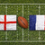 england vs france flags on rugby field stock photo © kb-photodesign