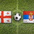 Georgia vs. Serbia flags on soccer field stock photo © kb-photodesign