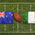 australia vs ireland flags on rugby field stock photo © kb-photodesign