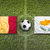 Belgium vs. Cyprus flags on soccer field stock photo © kb-photodesign
