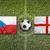 Tsjechische · Republiek · vs · Engeland · vlaggen · voetbalveld · groene - stockfoto © kb-photodesign