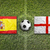 spain vs england flags on soccer field stock photo © kb-photodesign