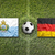 San Marino vs. Germany flags on soccer field stock photo © kb-photodesign