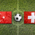 turkey vs switzerland flags on soccer field stock photo © kb-photodesign