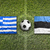 greece vs estonia flags on soccer field stock photo © kb-photodesign