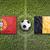 portugal vs belgium flags on soccer field stock photo © kb-photodesign