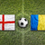england vs romania flags on soccer field stock photo © kb-photodesign