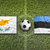 cyprus vs estonia flags on soccer field stock photo © kb-photodesign