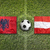 albania vs austria flags on soccer field stock photo © kb-photodesign