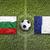 Bulgária · vs · Franciaország · zászlók · futballpálya · zöld - stock fotó © kb-photodesign