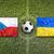 República · Checa · vs · Ucrânia · bandeiras · campo · de · futebol · verde - foto stock © kb-photodesign