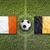Ireland vs. Belgium flags on soccer field stock photo © kb-photodesign