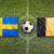 sweden vs belgium flags on soccer field stock photo © kb-photodesign
