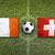 Irlanda · vs · Suiza · banderas · campo · de · fútbol · verde - foto stock © kb-photodesign
