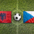 Albania vs. Czech Republic flags on soccer field stock photo © kb-photodesign
