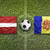 latvia vs andorra flags on soccer field stock photo © kb-photodesign