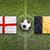 england vs belgium flags on soccer field stock photo © kb-photodesign