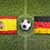 Spain vs. Germany flags on soccer field stock photo © kb-photodesign