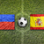 liechtenstein vs spain flags on soccer field stock photo © kb-photodesign