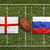 England vs. Russia flags on rugby field stock photo © kb-photodesign
