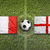 france vs england flags on soccer field stock photo © kb-photodesign